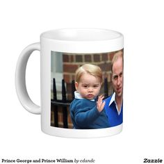 Prince George and Prince William Basic White Mug