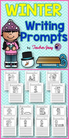 Writing about Winter   Winter is here! Wear your winter clothes! Get ready for winter!  This unit includes 14 pages for writing about WINTER. A sheet with writing lines is included, too. Your students will love to write about winter using these winter writing sheets. We all love Winter!