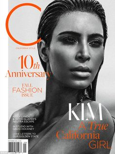 Candid: Kim Kardashian on Septemer issue of C Magazine