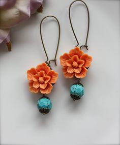 Orange+Wedding.+A+Bright+Orange+Sakura+Flower+with+by+Marolsha,+$18.00