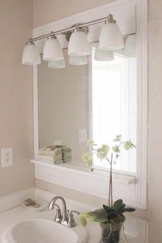 $100 Guest Bath Makeover W/ a Pottery Barn -Inspired Bathroom Mirror