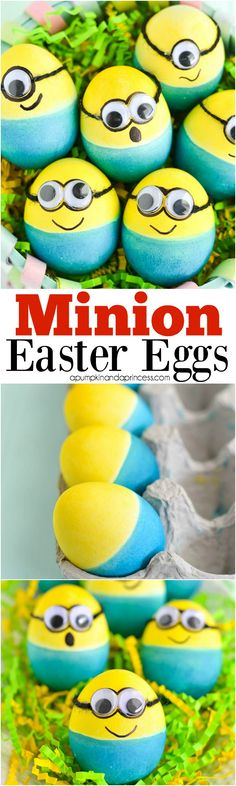 Minion Easter Eggs - create dip dyed Minion eggs for Easter with this easy tutorial.
