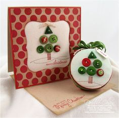 little button christmas trees on a card! Hanukkah Cards, Christmas Hanukkah, Christmas Holidays, Christmas Crafts, Merry Christmas, Christmas Decorations, Christmas Ornaments, Christmas Trees, Button Christmas Cards