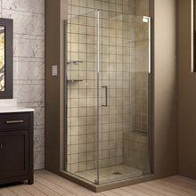 "View the Dreamline SHEN-4130321 Elegance 30"" X 32"" Frameless Pivot Shower Enclosure at FaucetDirect.com."
