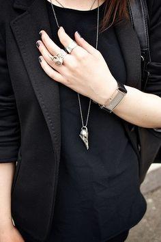 black on black + accessories.