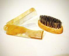 Beard Brush and Ox Horn Comb