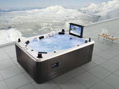 jacuzzi extérieur de luxe, 5 personnes, télé à écran plat intégrée