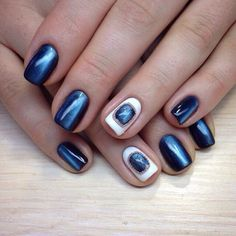 Blue metallic glitter makes your manicure incredible stylish. Such kind of nail polish is trendy today. It means if you ...