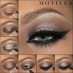 Good Evening Dolls!  Here's the pictorial for today's soft and sexy #holiday  look featuring @motivescosmetics  ♡Details♡ -Eye Base -In The Nude palette: Espresso (inner corner and outer v, along the lower lash line smudged with eyeliner) -Island Breeze palette: Peach shade (center of the lid over Eye Base) -Pressed Eyeshadow in Blizzard (brow bone) -Gel Eyeliner LBD Glitter is Champagne Wishes by Lit Cosmetics  ______________________________________ All #motives products are availabl...