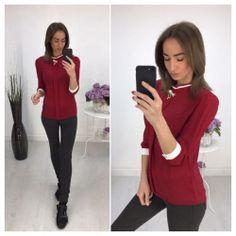 Блуза с манжетами, цвет марсала 6468 https://privately.ru/bluzy/bluza-s-manzhetami-cvet-marsala-6468/  Цена: Р1000.00