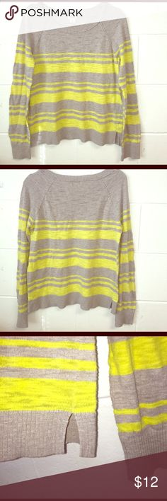 Mossimo Supply Co. Thin Sweater Striped Thin sweater material, very comfortable, loose fit, small slits on both sides. Great weekend wear. Mossimo Supply Co. Sweaters Crew & Scoop Necks