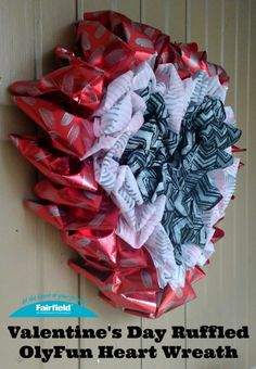 14dedb633 Valentine s Day Ruffled OlyFun Heart Wreath - Fairfield World Craft Projects