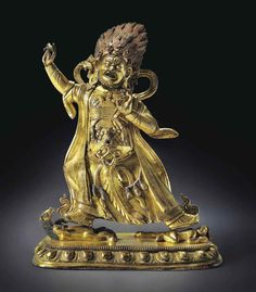 A Gilt Bronze Figure of Begtse Chen  Mongolia, possibly Dolonor school, 18th century