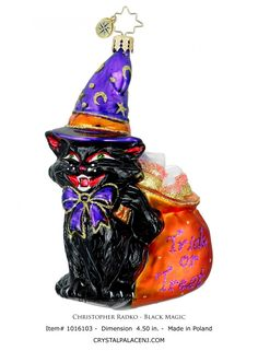 Black Magic Christopher Radko Ornaments For Christmas Decoration Ideas