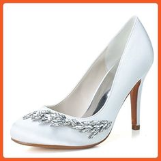 Clearbridal Women's White Evening Party Prom Bridal Shoes Pumps Heels ZXF5623-02WT 10.5 B(M) US - Pumps for women (*Amazon Partner-Link)