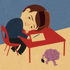 Brain On Vacation – Illustrations by John Holcroft - Pondly