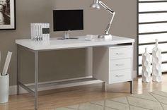 Desk White Wood for Home Office Workstation Minimalist Desk Design