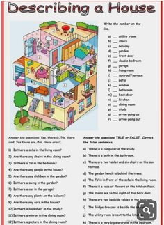 English Lessons For Kids, Learn English Words, English Lesson Plans, French Lessons, Spanish Lessons, Picture Comprehension, Reading Comprehension, English Grammar Worksheets, English Vocabulary