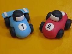 Fondant Race Cars