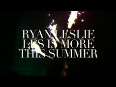 "Ryan Leslie - ""Ups & Downs"" (Live in LA)    Shot during a recent show in L.A.     Not sure about the karaoke lyrics but it's nice to see some well put together gig footage for a change. I don't know why more artists don't do this? Pretty much every gig you go to has some member of the entourage jumping around with a video camera."