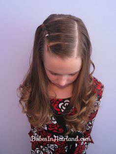 Style for growing out bangs....Bang Pull Back   Puffy Braids on the Side   Babes In Hairland