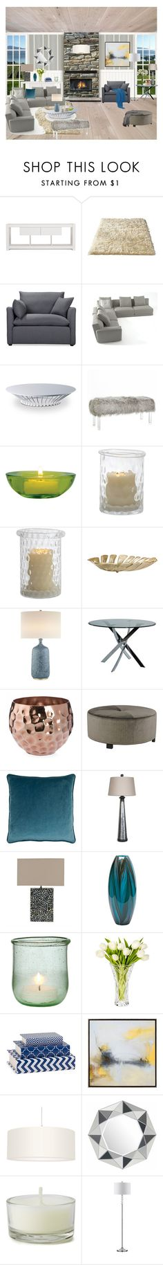 """Untitled #419"" by salomepshavlishvili-1 ❤ liked on Polyvore featuring TemaHome, Volo Design, Modloft, Cultural Intrigue, AERIN, Powell Furniture, Sherry Kline, Uttermost, Safavieh and Marquis by Waterford"
