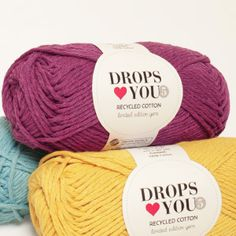 Made from recycled cotton that gives the yarn a natural, rustic texture, DROPS ♥ You is soft and easy to work with, which makes it perfect for all. Magazine Drops, Yarn Shop, Drops Design, Miniture Things, Lana, Yarn Crafts, Knit Patterns, Color Combos, Free Crochet