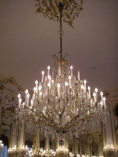 Chandelier in Hofburg Imperial Palace (Austria). the beautiful city of Wien where Dancer Against Cancer takes place.