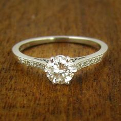 Really simple and pretty! I love the design underneath the diamond