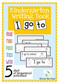 Classroom Freebies: Kinder Writing FREEBIE