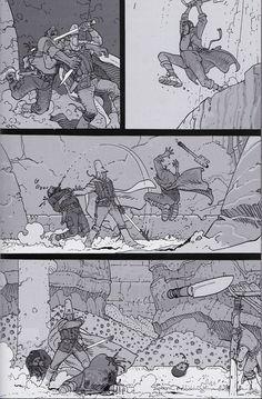 "Moebius 2008 - From ""ARZAK Destination Tassili The Return of a Legend"" Special collector black and white edition - Moebius Production, Paris - Nov. Comic Book Artists, Comic Artist, Comic Books Art, Jean Giraud, Moebius Art, Comic Layout, Graphic Novel Art, Comic Book Collection, Ligne Claire"