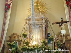 Nacimiento en el Santuario de la Virgen de Guadalupe en Pátzcuaro durante la época navideña y las vacaciones de fin de año.
