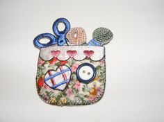 Country Style Embroidered Patch Applique Iron On Sew by LoveLaly