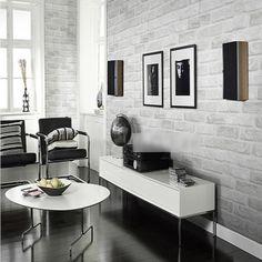 3d modelo del ladrillo rollo de papel blanco gris textura de papel tapiz de la pared mejoras para el hogar 10m