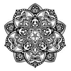 Panda Mandala   Tattoodo.com