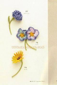 Crochet flowers, pansy - Lacework petit motif - Annie Mendoza - Picasa Web Albums