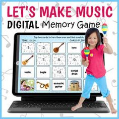 DIGITAL Musical Instruments Memory Game - Music Matching Game | TpT