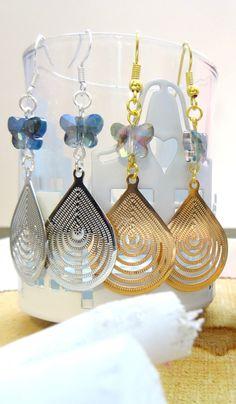 Boho chic earrings ,drop earrings ,butterfly earrings,bohemian earrings ,delicate earrings ,dainty earrings ,gypsy earrings,bohemian jewelry door HipLikeMe op Etsy https://www.etsy.com/nl/listing/258138857/boho-chic-earrings-drop-earrings