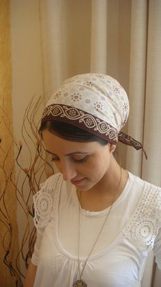 head covering triangle bandana hair tie accessory without the jewelry