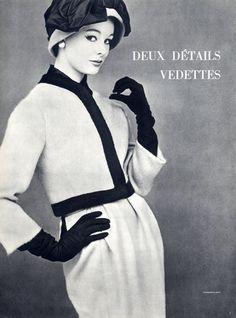 1959 - Yves Saint Laurent for Christian Dior suit by Leombruno-Bodi