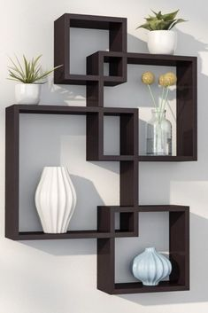 Unique Bookcase Decorating Ideas To Perfect Your Interior Design – Home Decoration Unique Wall Shelves, Cube Shelves, Wall Shelves Design, Glass Shelves, Corner Shelves, Bookshelf Design, Decorative Wall Shelves, Wall Shelf Decor, Wall Design