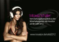 """Novastor holt sich """"Germany´s next Topmodel""""-Kandidatin Vom Dschungelcamp auf die CeBIT: Micaela Schäfer - it-business.de (24.01.2012)"""