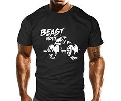 New Mens Beast Bicep Curl Gym T-Shirt - Training Top - Sports - Bodybuilding Casual Loose Fit Top (XL)