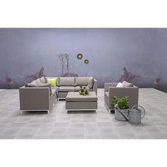 STAVIA - Lounge Set 6-teilig - ALLWEATHER - Taupe / Matt Weiß [Garden Impressions]