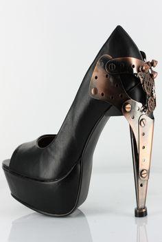 Hades Shoes - Titan - Metal Goth Cyber Steam - Salient Seven
