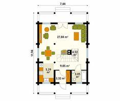 3 cabañas de madera que vas a querer para tí (+planos)   homify Small Wooden House, Floor Plans, Diagram, Architecture, House Styles, Muscle Cars, Timber House, Design Ideas, Kiosk
