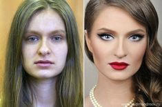 makeuphall:22 Amazing Before and After Makeup Photos by Vadim http://www.qunel.com/  fashion street style beauty makeup hair men style womenswear shoes jacket