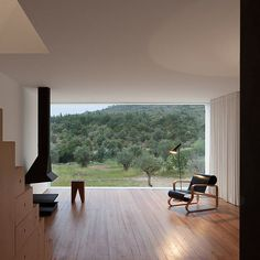 House Portugal João Mendes Ribeiro Image: Jose Campos #interior #interiors #interiordesign #architecture #instarchitecture #instainterior #Artekchair #palmio #roomwithaview #fireplace #simple by lucdesign