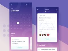 Calendar & Project management App