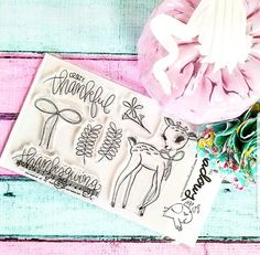Growing Meadows Stamps for Bible Journaling!  Hey, I found this really awesome Etsy listing at https://www.etsy.com/listing/545855632/thanks-deer-stamps-christian-stamping